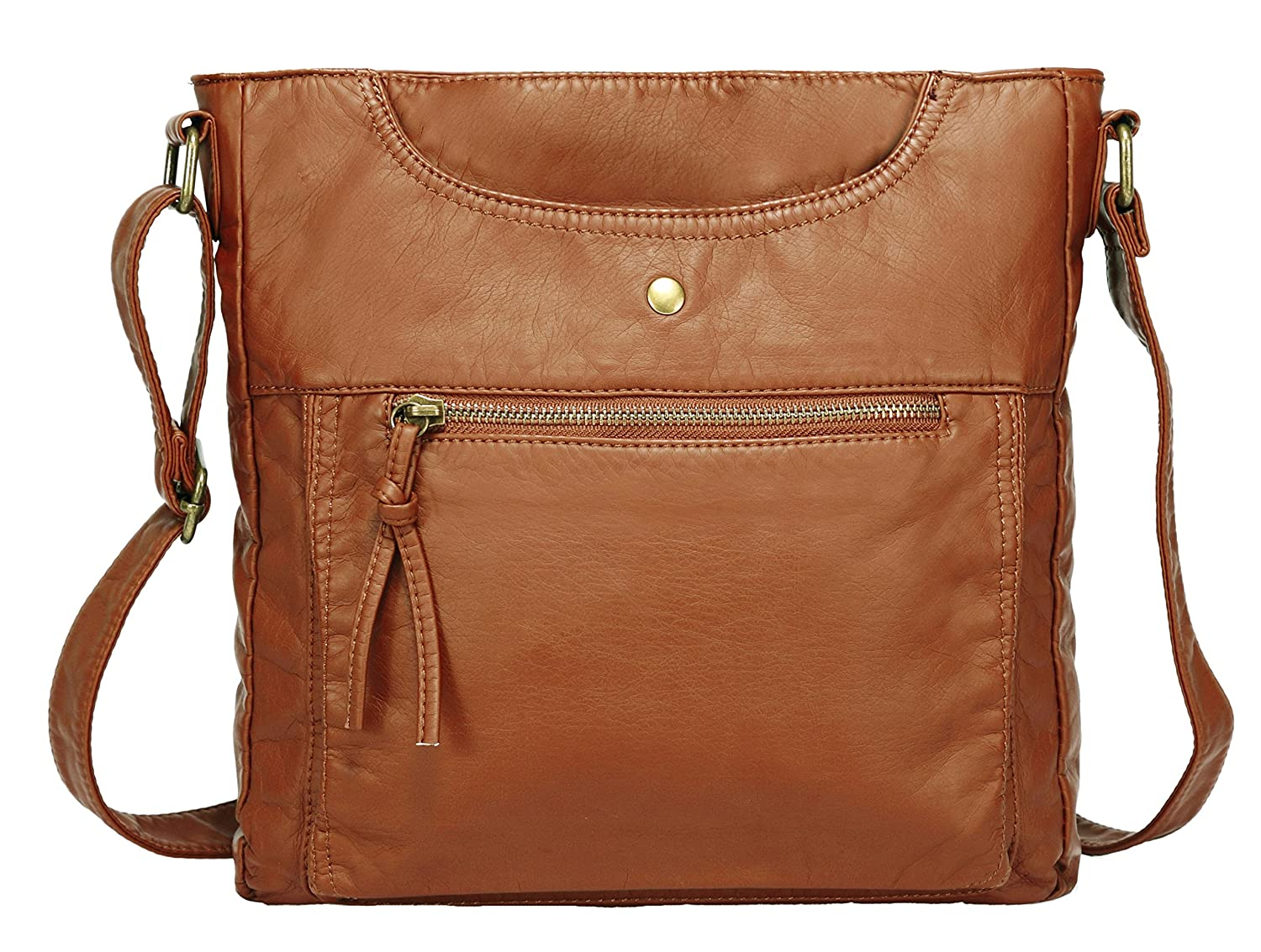 Suvelle Lightweight Go-Anywhere Travel Everyday Crossbody Bag Multi Pocket  Shoulder Handbag 20103 SUVELLÉ 20103BK 6e098b017fe3c