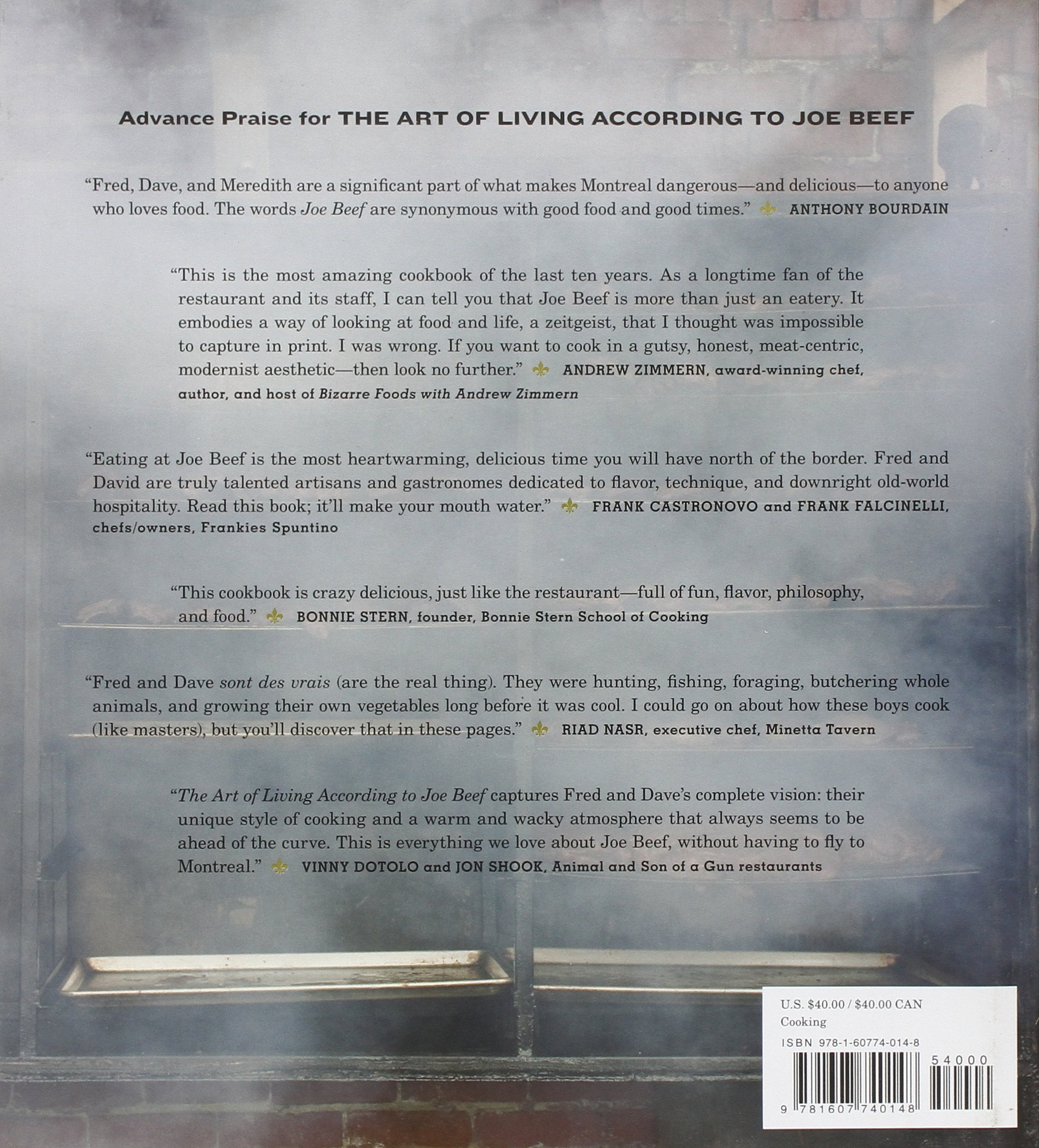 The Art of Living According to Joe Beef A Cookbook of Sorts