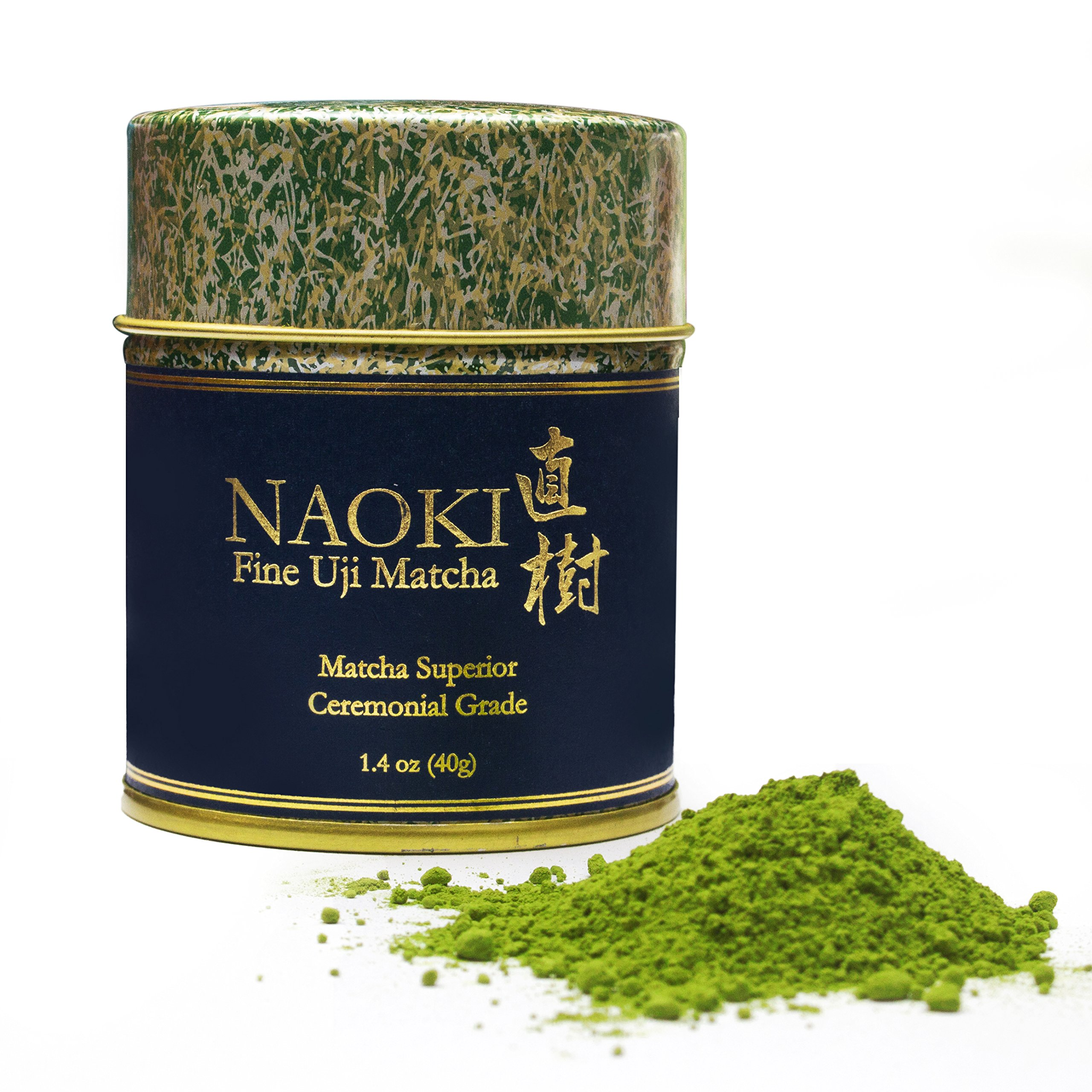 Authentic Naoki Matcha Green Tea Powder Superior Ceremonial Grade - Japanese 40g (1.4oz) - Experience and Gift The True Essence of Japanese Uji Matcha, Perfect for Restoring Focus, Vitality and Health