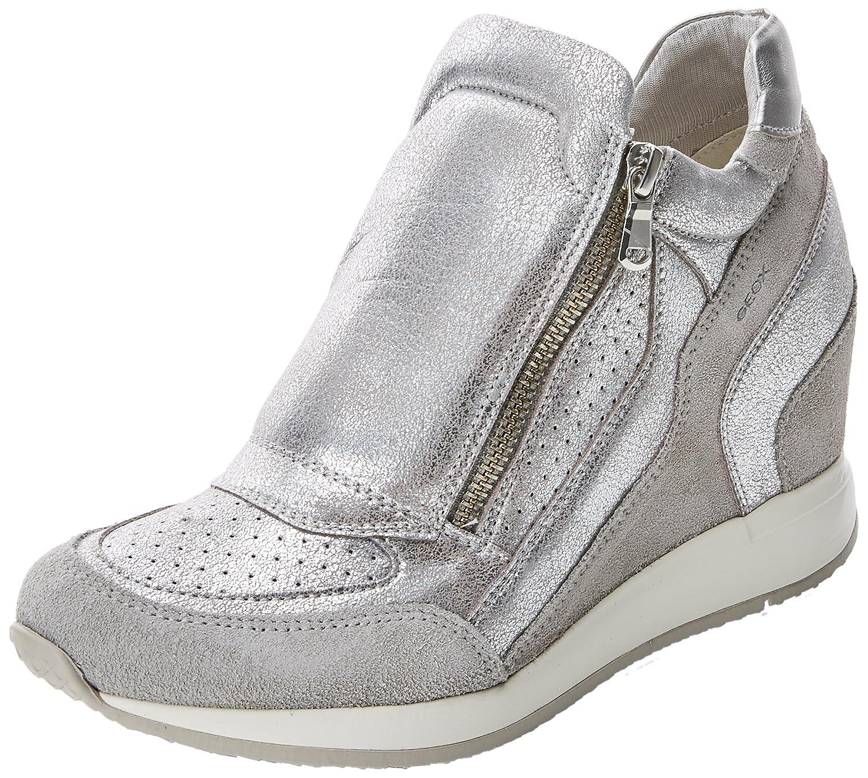 Geox Womens Nydame Sneaker B0767N3NV9 7 B(M) US|Grey (Lt Grey)