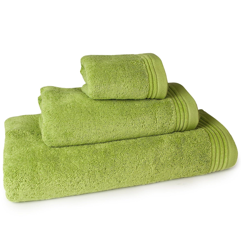 Aneesi Bath & Leisure 50x100 cm Ultima Asciugamano per Ospiti in Puro Cotone, Bianco ULTIMWHT50100