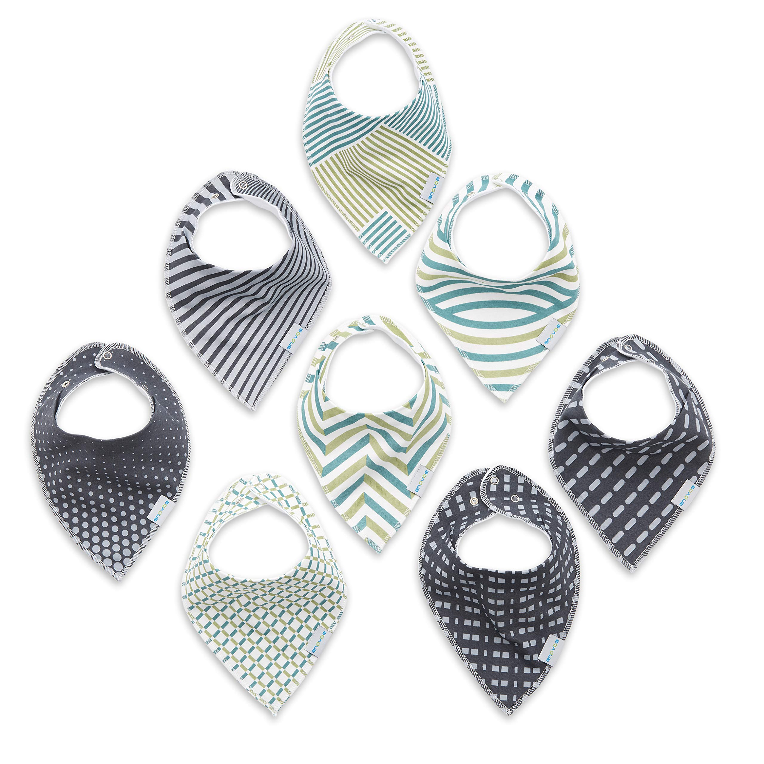 Baby Bandana Bibs for Boys & Girls - Newborn and Infant Unisex Cotton Drool Bib with Snaps – Baby Shower Gifts