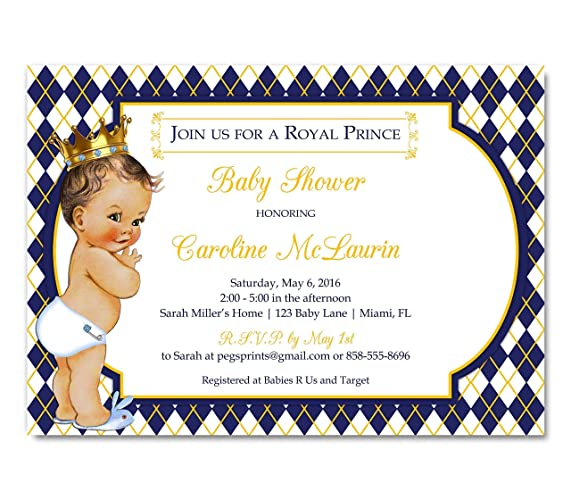 dp royal boy invitation shower com invitations baby amazon invites prince
