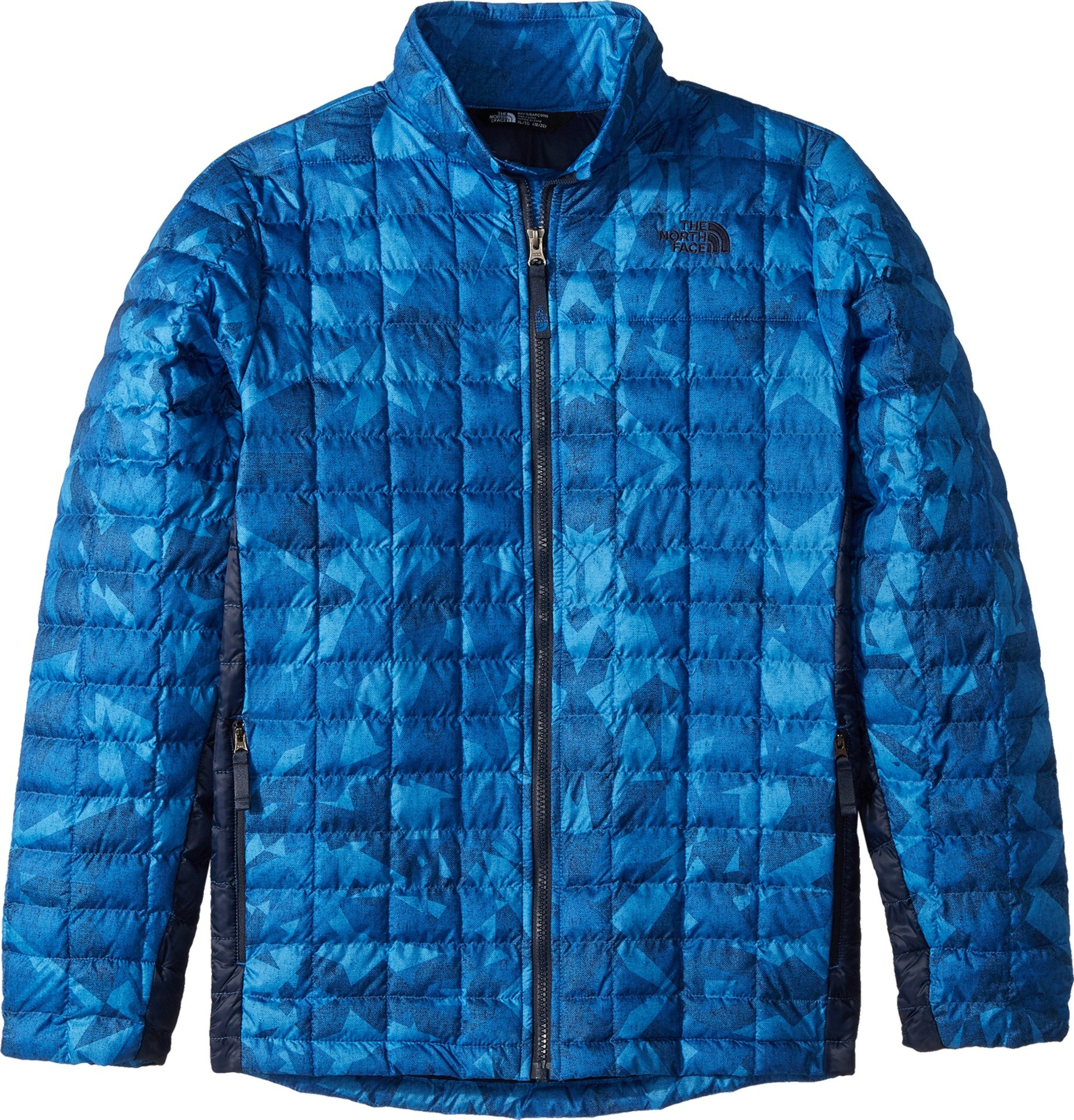 The North Face Kids Boy's Thermoball Full Zip Jacket (Little Kids/Big Kids Turkish Sea Metric Mountain Print/Cosmic Blue Large by The North Face