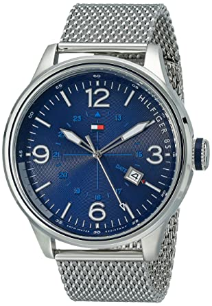 e5ca3434 Image Unavailable. Image not available for. Color: Tommy Hilfiger Men's  1791106 Sophisticated Sport Stainless Steel Watch with Mesh Bracelet
