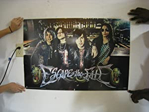 Escape The Fate Poster 24X36 Alternative Rock Band 1552 Poster Print, 36x24 Poster Print, 36x24