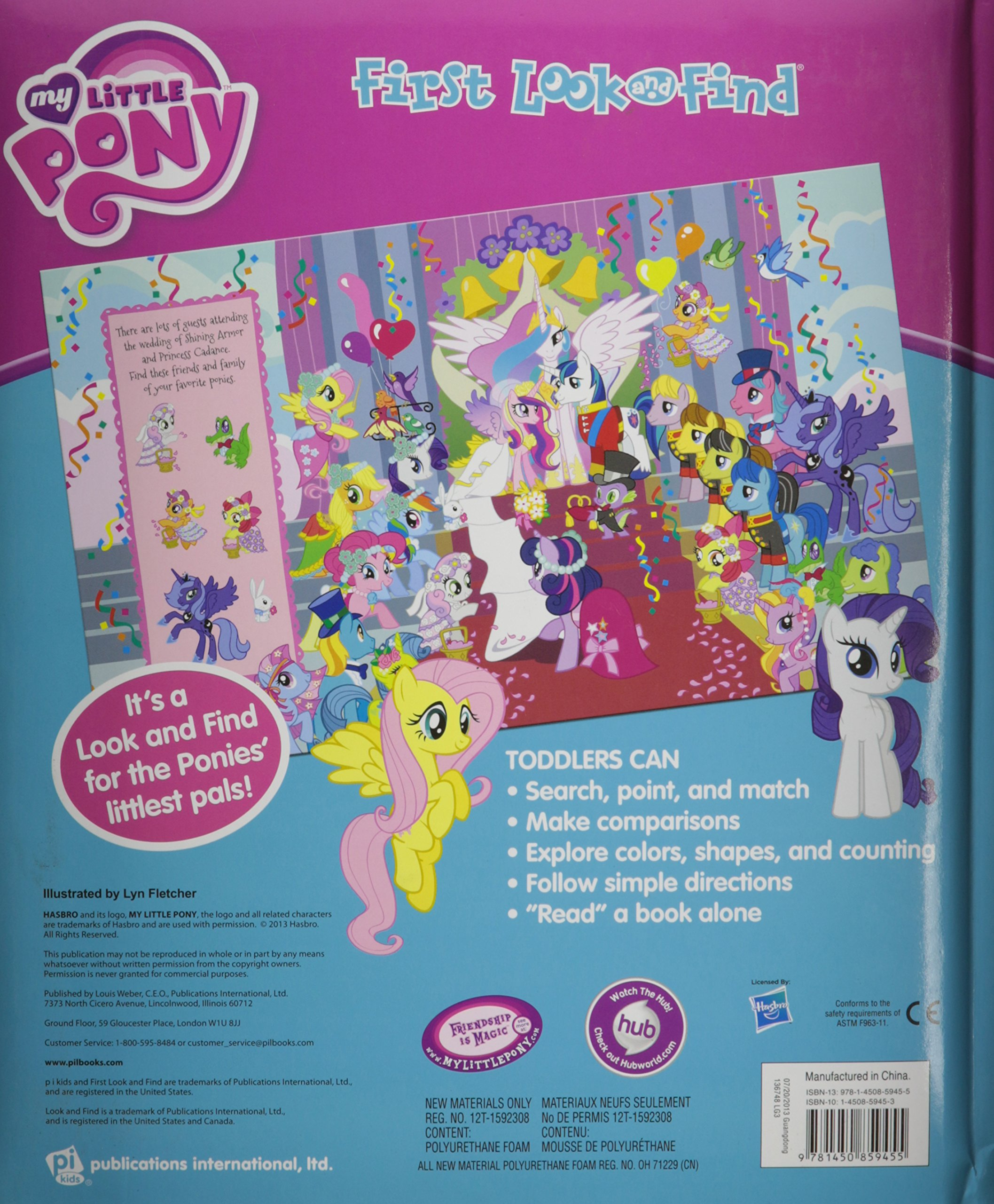 hasbro my little pony first look and find 978145085945 editors of