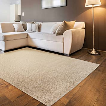 Living Room Rug Available in Various Shapes | Short Pile Shaggy with ...