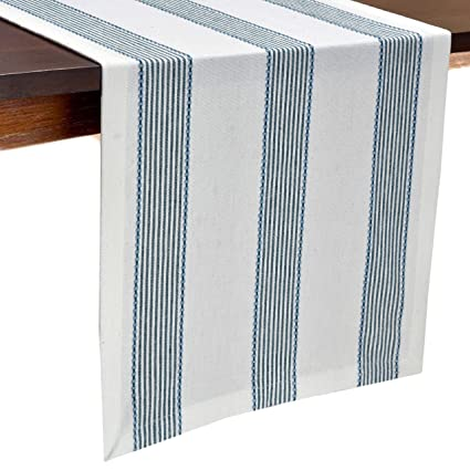 Amazon.com: Glamburg Cotton Table Runner 90 Inch, 100% Ring Spun Cotton, 2  Pack 14x90   Inch With Mitered Corners And A Generous Hem   Teal: Home U0026  Kitchen