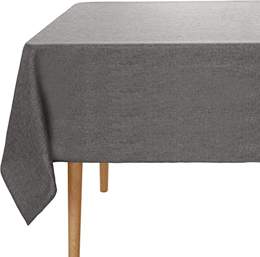 UMI. Essentials - Manteles Mesa Rectangular Tela 150 x 150 cm Gris ...