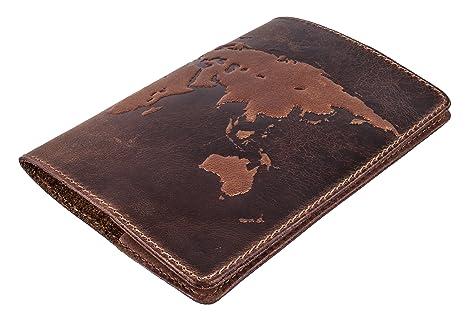 Amazon premium leather passport cover world map 3d print premium leather passport cover quotworld map 3d printquot gumiabroncs Gallery