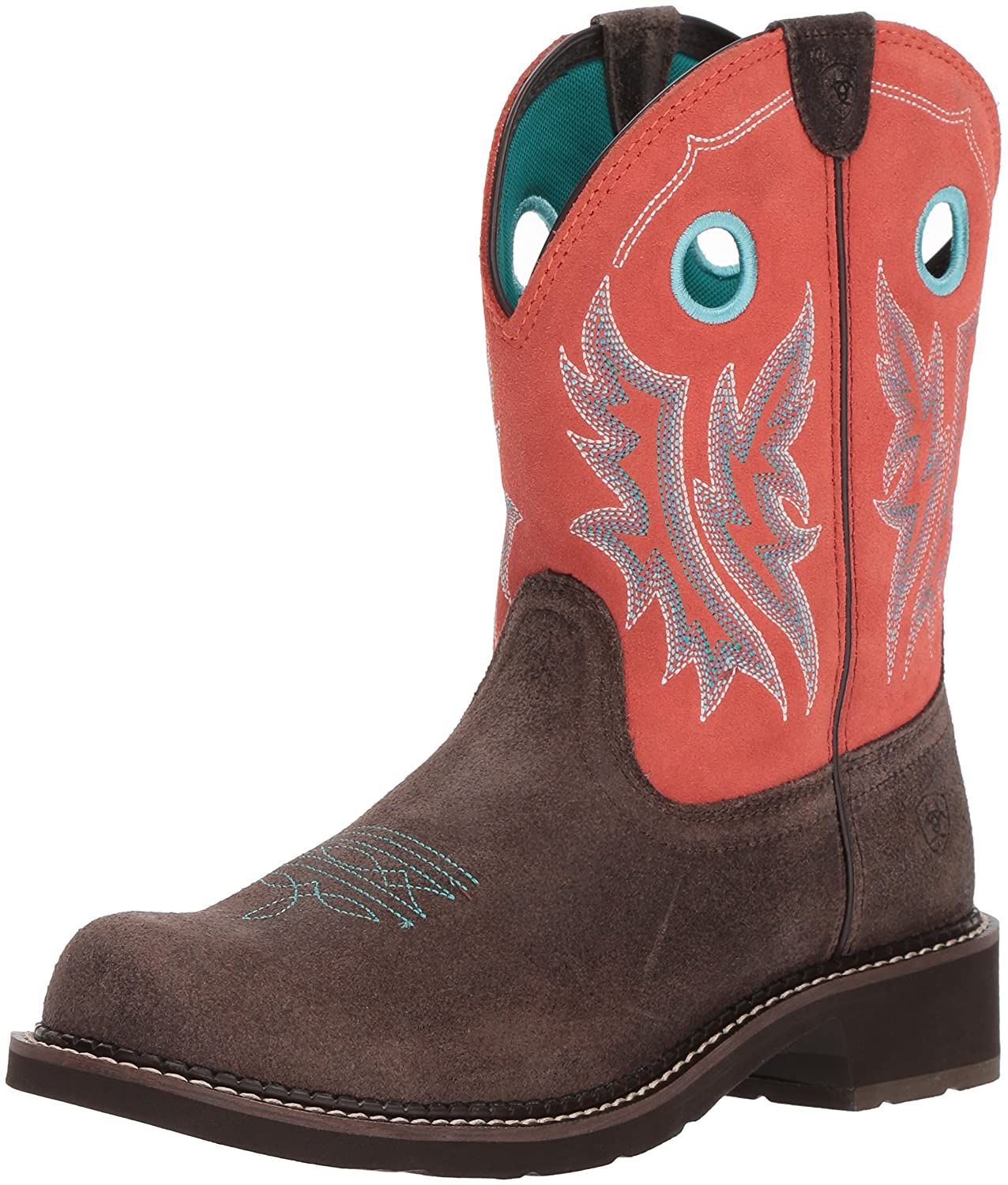 Ariat Women's Fatbaby Heritage Cowgirl Western Boot B076MCSFJ8 6.5 B(M) US|Chocolate/Coral