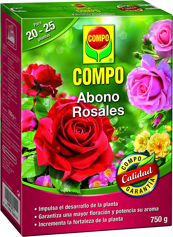 COMPO Abono para rosales Apto también para otras plantas de flor, Envase estanco, Granulado, Para 20-25 plantas, 750 g, 2655102011