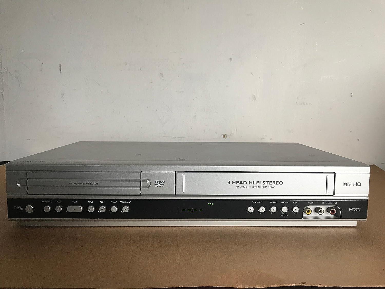 Philips dvp3340 V DVD / VCRビデオカセットレコーダー/ DVDプレーヤーコンボ。4-head Hi - FiステレオVHS & CDプレーヤー。Dolbyデジタルサウンド、CDデジタルアウト、Progressiveスキャン。Comes w /リモートコントローラ。 B071NS8FH4