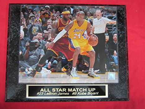db328cb1a117 Amazon.com  Kobe Bryant LeBron James Collector Plaque w 8x10 Action ...