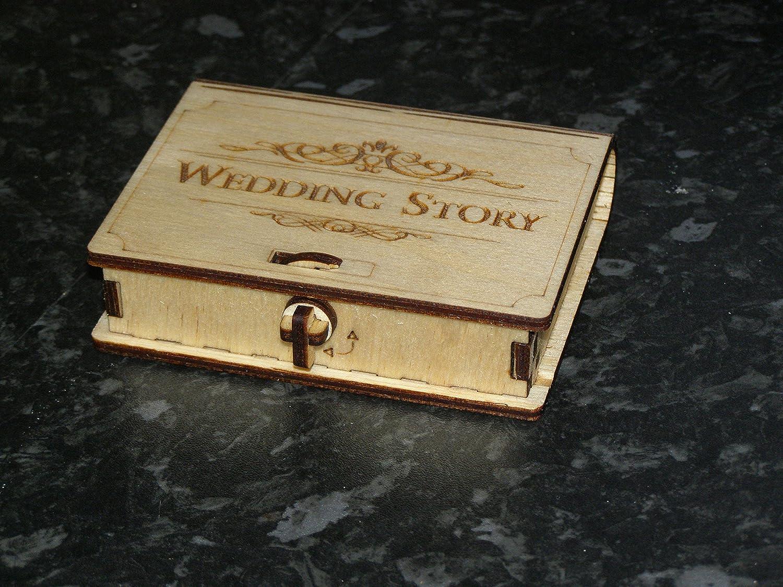 Historia de la boda y memorias USB stick box para fotógrafos.: Amazon.es: Handmade