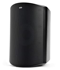 Polk Audio Atrium 8 SDI Flagship Outdoor Speaker (Black) - Use as Single Unit or Stereo Pair | Powerful Bass & Broad Sound Coverage | Withstands Extreme Weather & Temperature