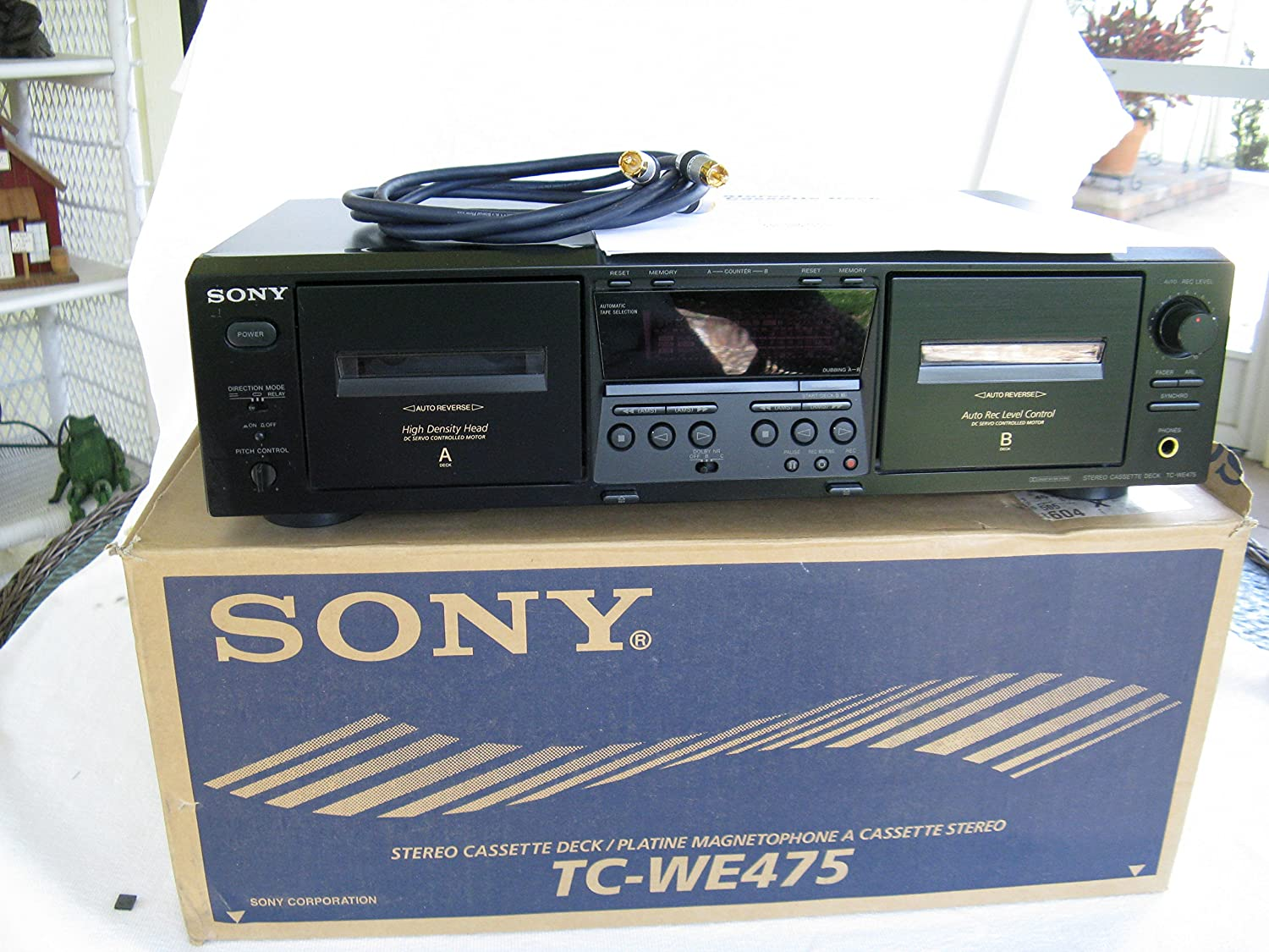 Sony TC-WE 475 Dual Stereo Cassette Deck Player Recorder Includes ...