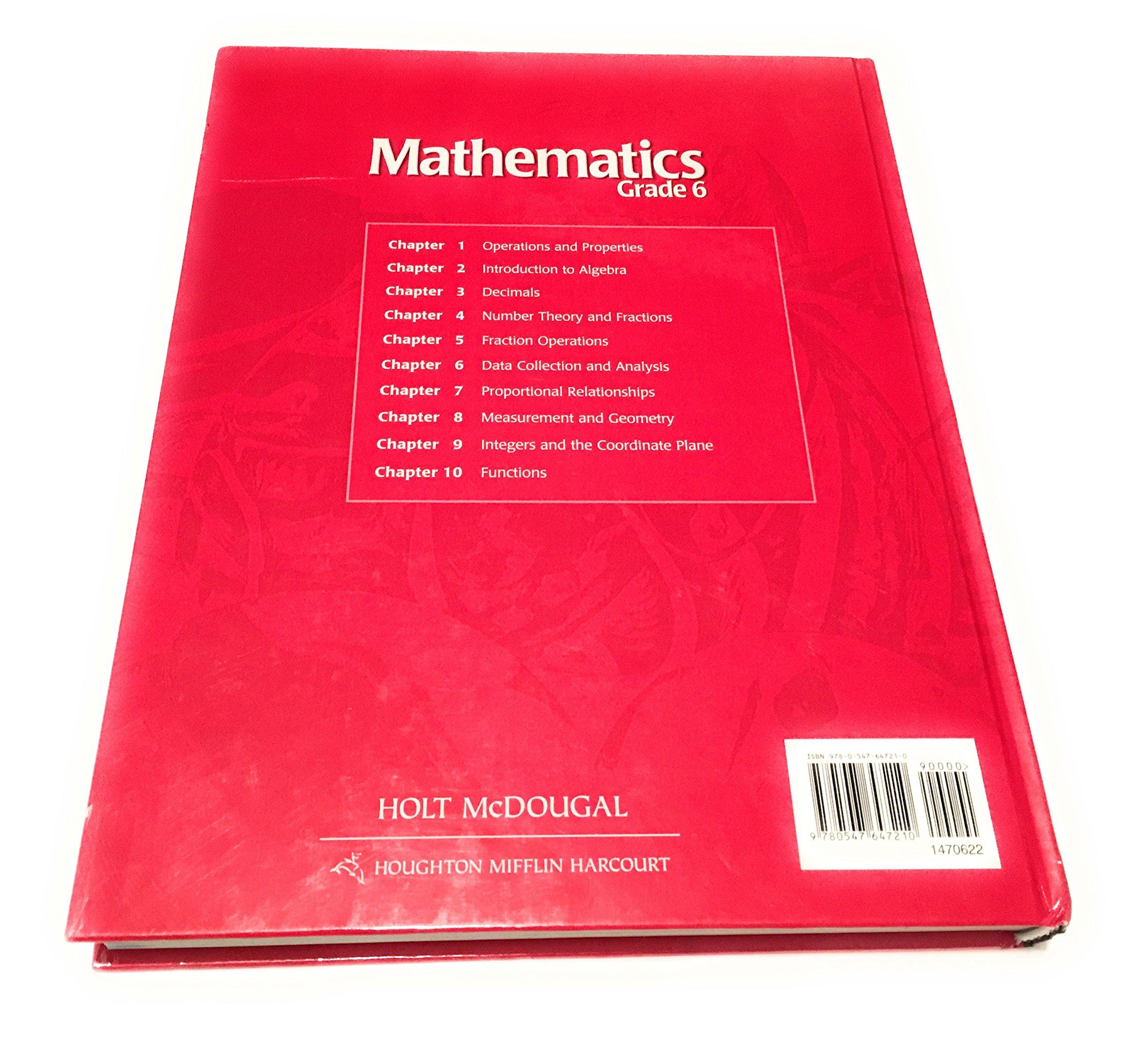 Holt McDougal Mathematics: Teacher's Edition Grade 6 2012: Amazon co