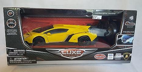 Amazon Com Luxe Radio Control Yellow Lamborghini Veneno Toys Games