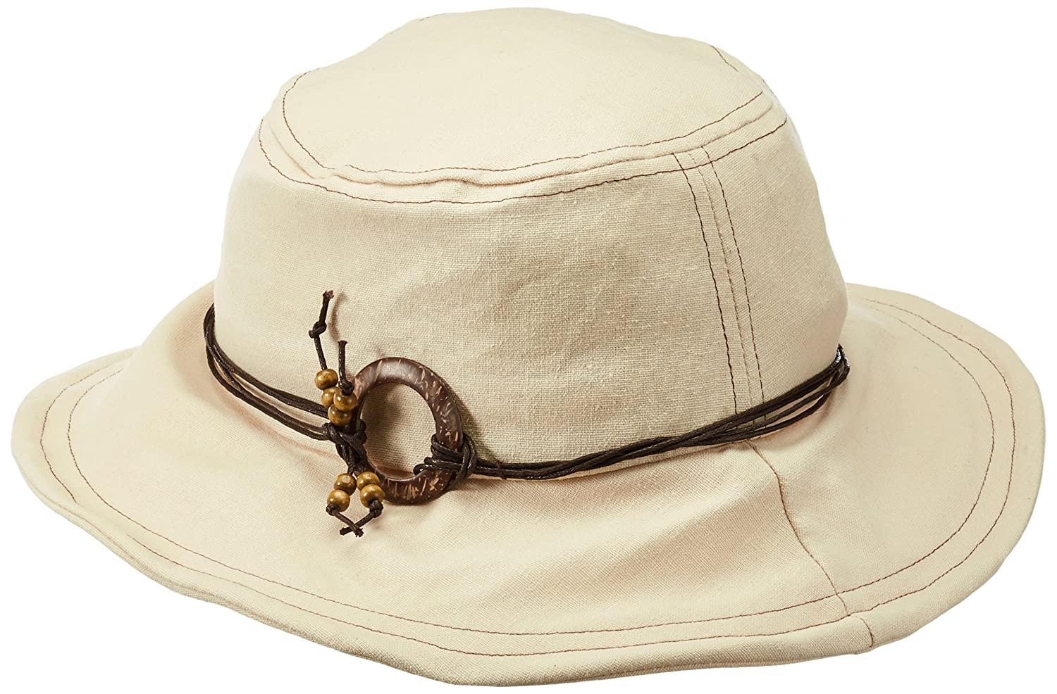 i-Smalls Womens Shapeable Summer Sun Bucket Hat with Beaded Band