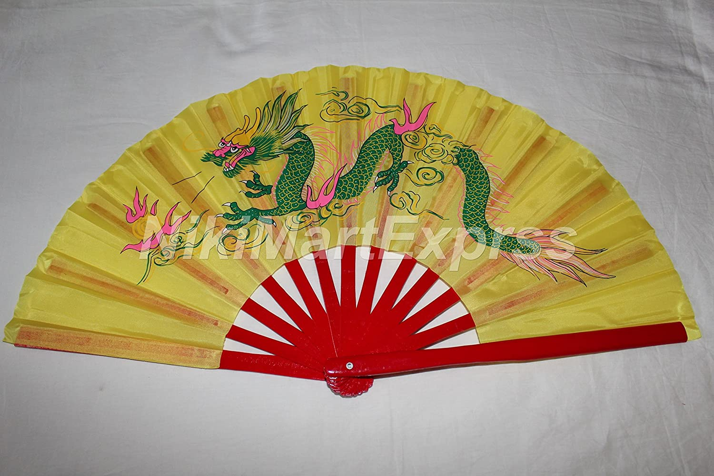 Amazon.com: Quality Oriental Chinese Bamboo & Silk Hand Folding Fan ...