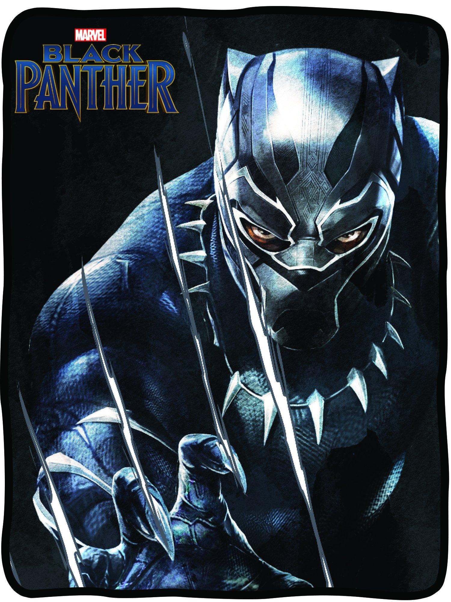 Marvel Black Panther Fleece Blanket - Officially Licensed Marvel Black Panther Movie Soft Silk Throw Bed Blanket by Marvel