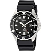 Casio Men's Core MDV106-1AV Black Resin Quartz Watch with Black Dial