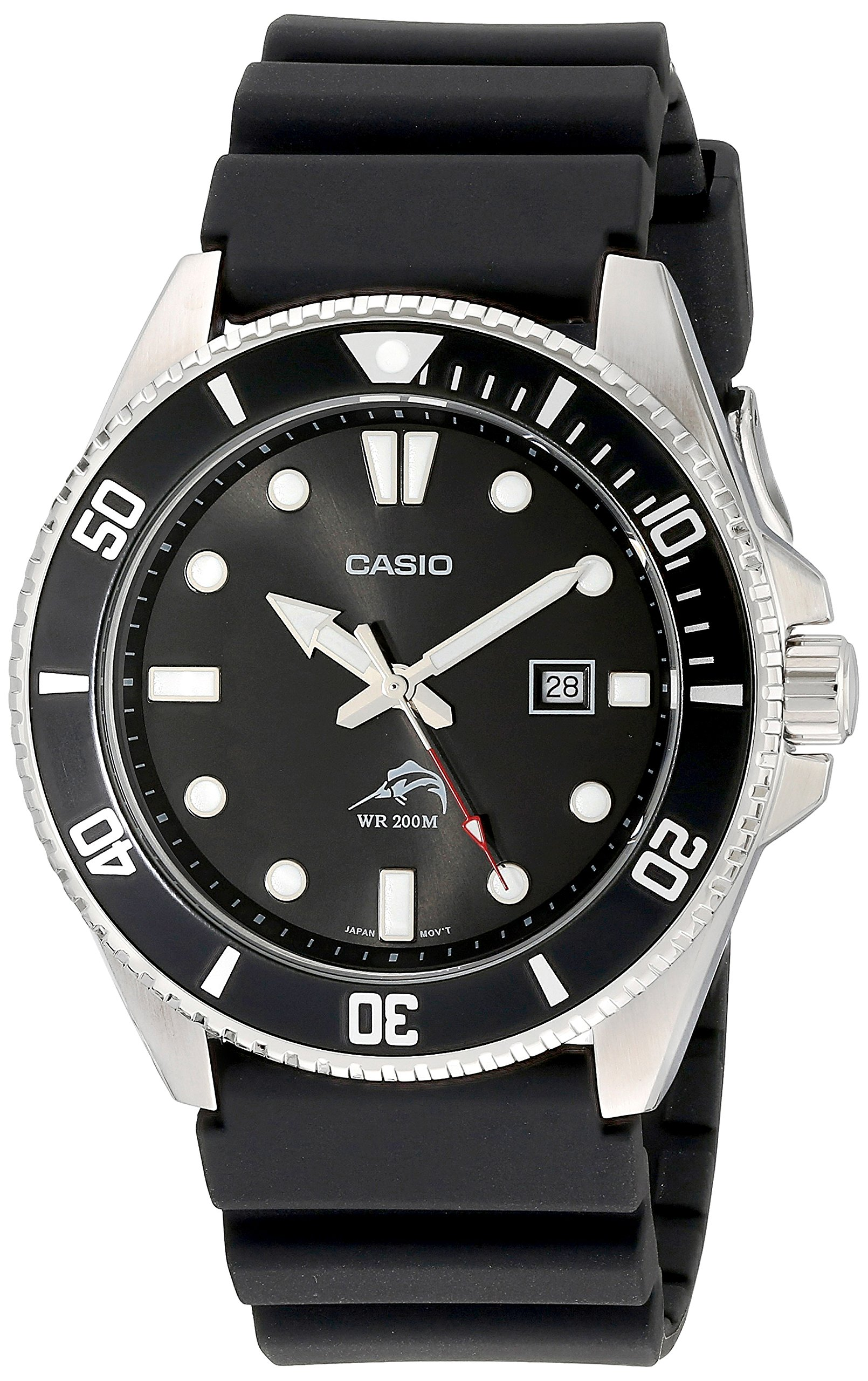Casio Men's MDV106-1AV 200M Duro Analog Watch, Black by Casio