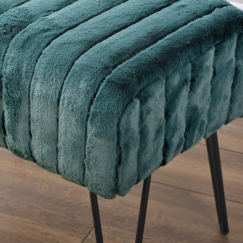Home Soft Things OTMSM1913EDN Super Mink Storage-Ottomans 19 x 13 x 17 Eden 19 x 13 x 17 Eden BNF Home