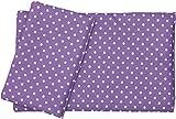 "Dolls Teddy Quilt /Duvet Pillow Bedding Set Fits Up to 46cm 18"" Doll Pram /Cot (purple)"