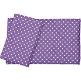 "Dolls Teddy Quilt /Duvet Pillow Bedding Set Fits Up to 46cm 18"" Doll Pram /Cot (purple)"