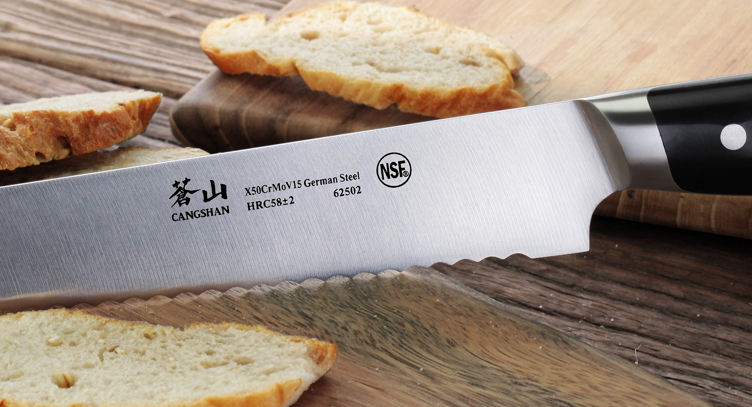 Cangshan Z Series 62502 German Steel Forged Bread Knife, 10.25-Inch by Cangshan (Image #6)
