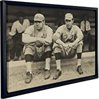J.P. London FCNV2337 Framed Gallery Wrap Vintage Babe Ruth Ernie Shore 1915 Baseball Boston Red Sox Canvas Wall Art, 20.375-Inch High by 26.375-Inch Wide by 1.25-Inch Thick