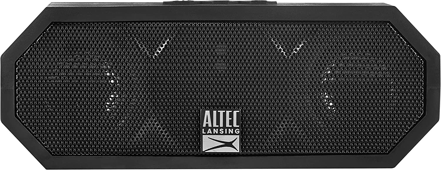 Altec Lansing IMW457-BLK Jacket H2O 2 Bluetooth Speaker, IP67 Waterproof, Shockproof And Snowproof Rated And It Floats Rating, 8 Hours Of Battery, Ultra Portable,Compact Design, Black