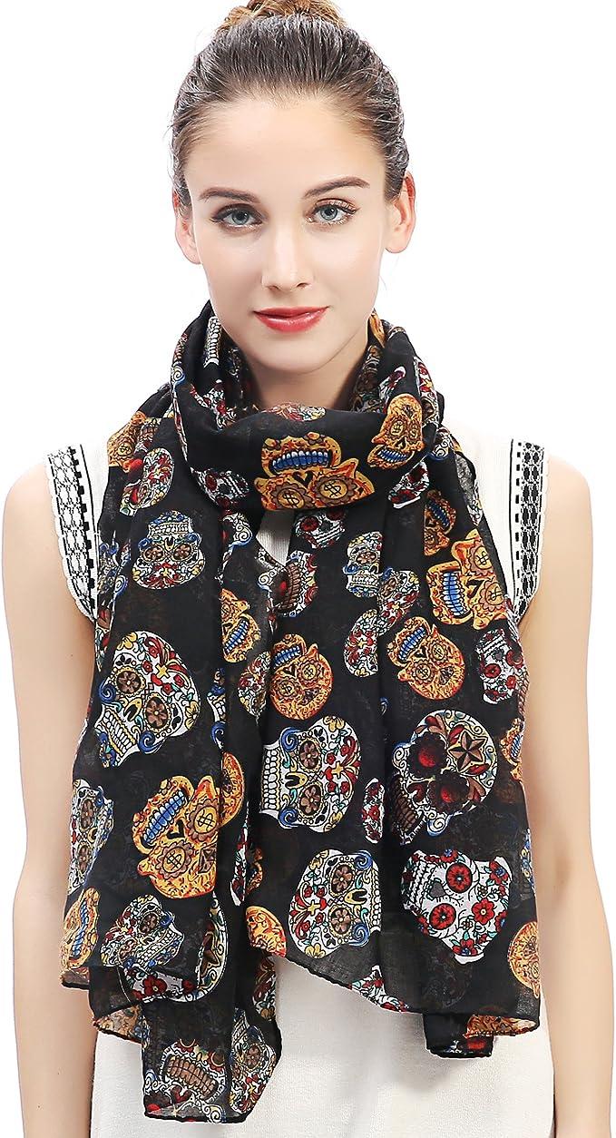 Acheter foulard echarpe bandana tete de mort online 2