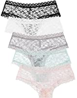 5-Pack: Free to Live Women's Trimmed Lace Boy Short Panties