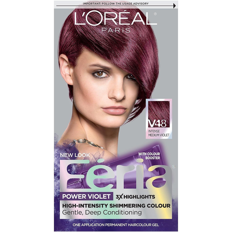 Garnier belle color 73 dark golden blonde dark brown hairs - L Oreal Paris F Ria Power Violet Haircolor V48 Intense Medium Violet