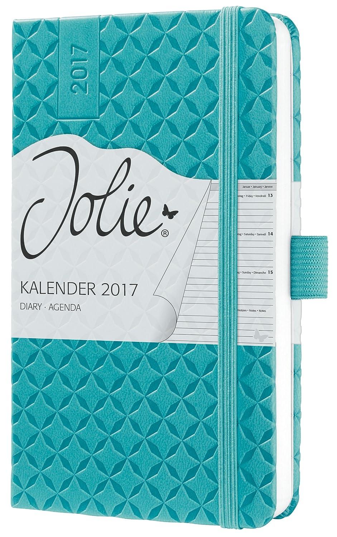Sigel J7102 - Agenda semanal Jolie 2017 de A6 con tapa dura con diseño aqua green