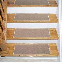 Ottomanson Ottohome Collection Beige Oval Stair Tread