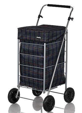 Shoppa - Carro de la compra de 4 ruedas para la compra Tartan A: Amazon.es: Hogar