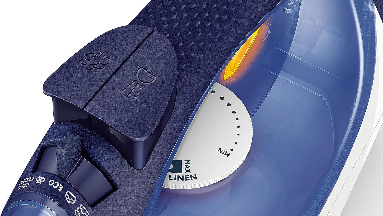 Colpo Vapore 160 g Philips GC3580//20 SmoothCare Ferro a Vapore Capacit/à Serbatoio 400 ml