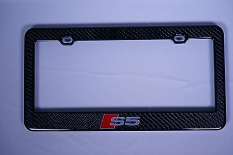 Audi Plate Frame >> Amazon Com Audi S5 Carbon Fiber License Plate Frame Automotive