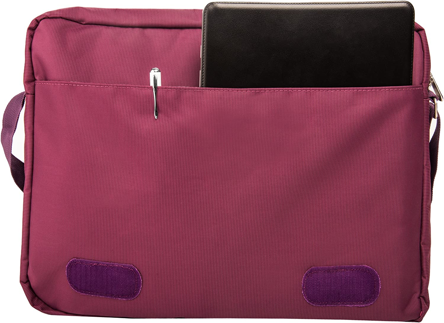 Inspiron 13 Italey Purple Crossbody Pack for Dell Notebook Chromebook and Wireless USB Mouse and 7 Port USB HUB 6 foot Cable 14 LatituVostro 14 de 13 11.6 inch 15.6 inch XPS 15 15 Alienware