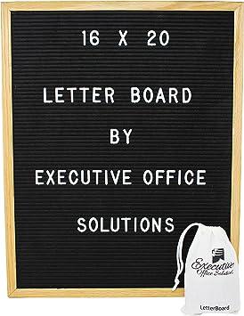 "13/"" x 17/"" Black Felt Letter Message Board 290 3//4/"" Plastic Characters"