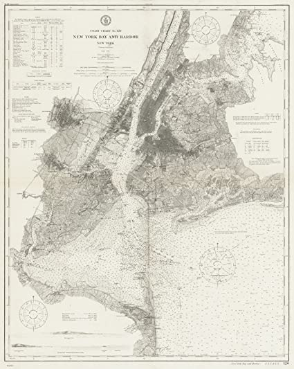 Amazon.com: Historical 1910 U.S. Coast Survey Nautical Chart ...