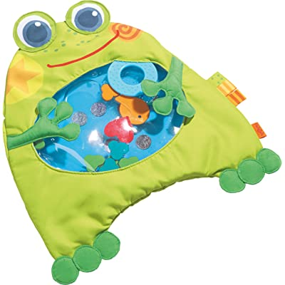 HABA Little Frog Water Play Mat Tummy Time Activity with Machine Washable Cover : Baby