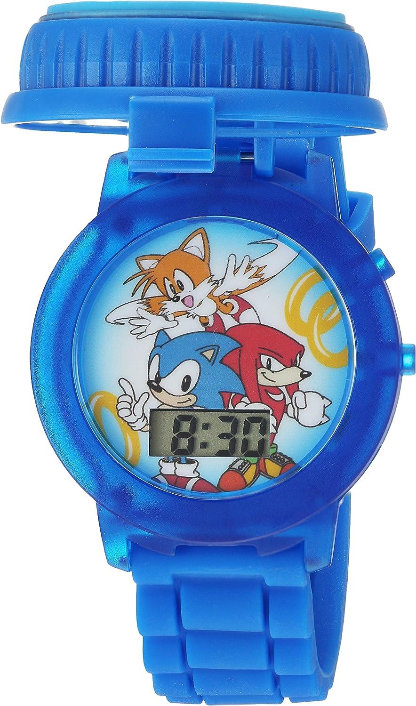 Amazon Com Sonic The Hedgehog Kids Snc4020 Digital Display Quartz Blue Watch Watches