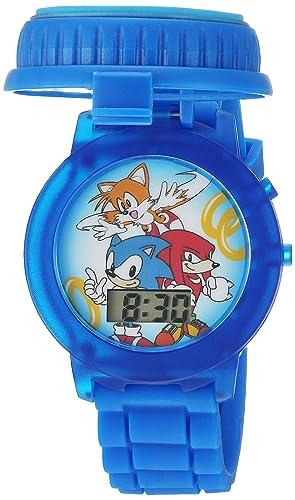 Sonic the Hedgehog Kids SNC4020 Digital Display Quartz Blue Watch
