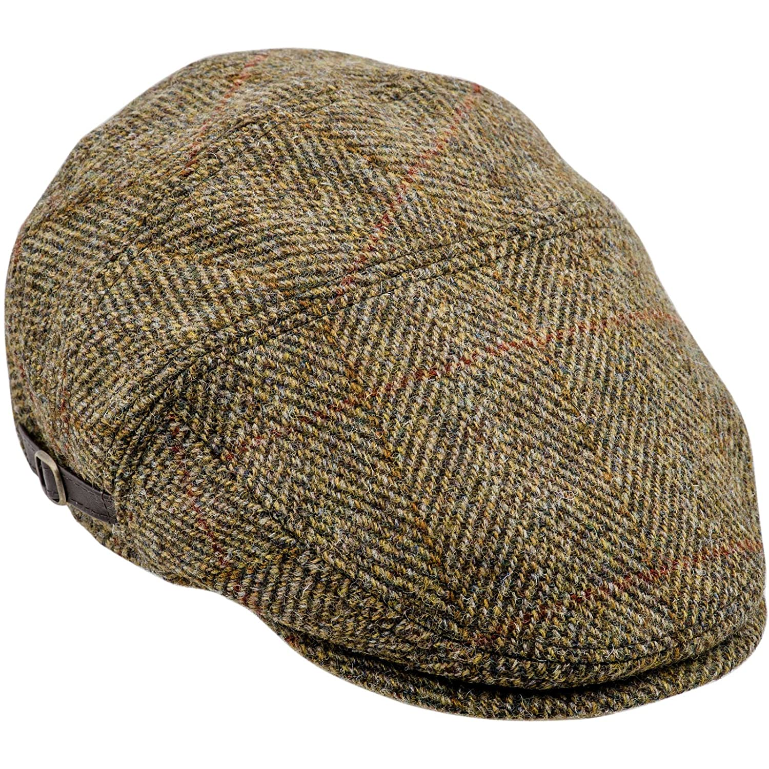Sterkowski Harris Tweed Ivy League Classic Flat Cap KSK-KZI-Hv1US 8 1/8 $P